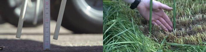 Důležitou roli hraje nastavení pracovní výšky prstů cca 25 mm. Pokud nastavím příliš nízko, dojde ke kontaktu prstů rotoru s půdou a následně k poškozování drnové vrstvy, kontaminaci krmiva hlínou a kamínky - to je nežádoucí