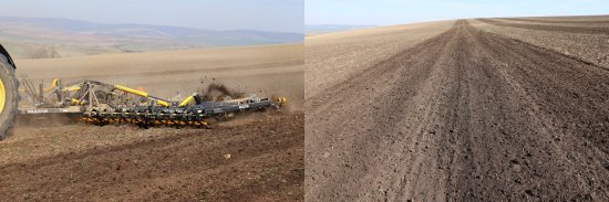 Na fotografiích můžeme vidět výslednou práci kultivátoru. Agronom podniku Zemagro uvedl, že nasazení kultivátoru je plánováno i při finální přípravě podrytého pozemku, po které už následuje založení porostu pšenice. Zdroj foto - Milan Jedlička