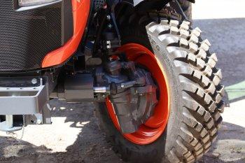 Stejně jako je tomu u téměř všech traktorů Kubota, i nové modely mají velmi malý poloměr otáčení.  Zdroj foto - Milan Jedlička